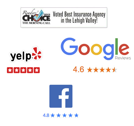 We average 4.9 stars on Google, Facebook, Yelp and Reader's Choice.